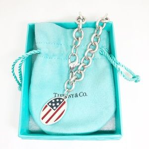 With. Tiffany & Co. American Flag Bracelet
